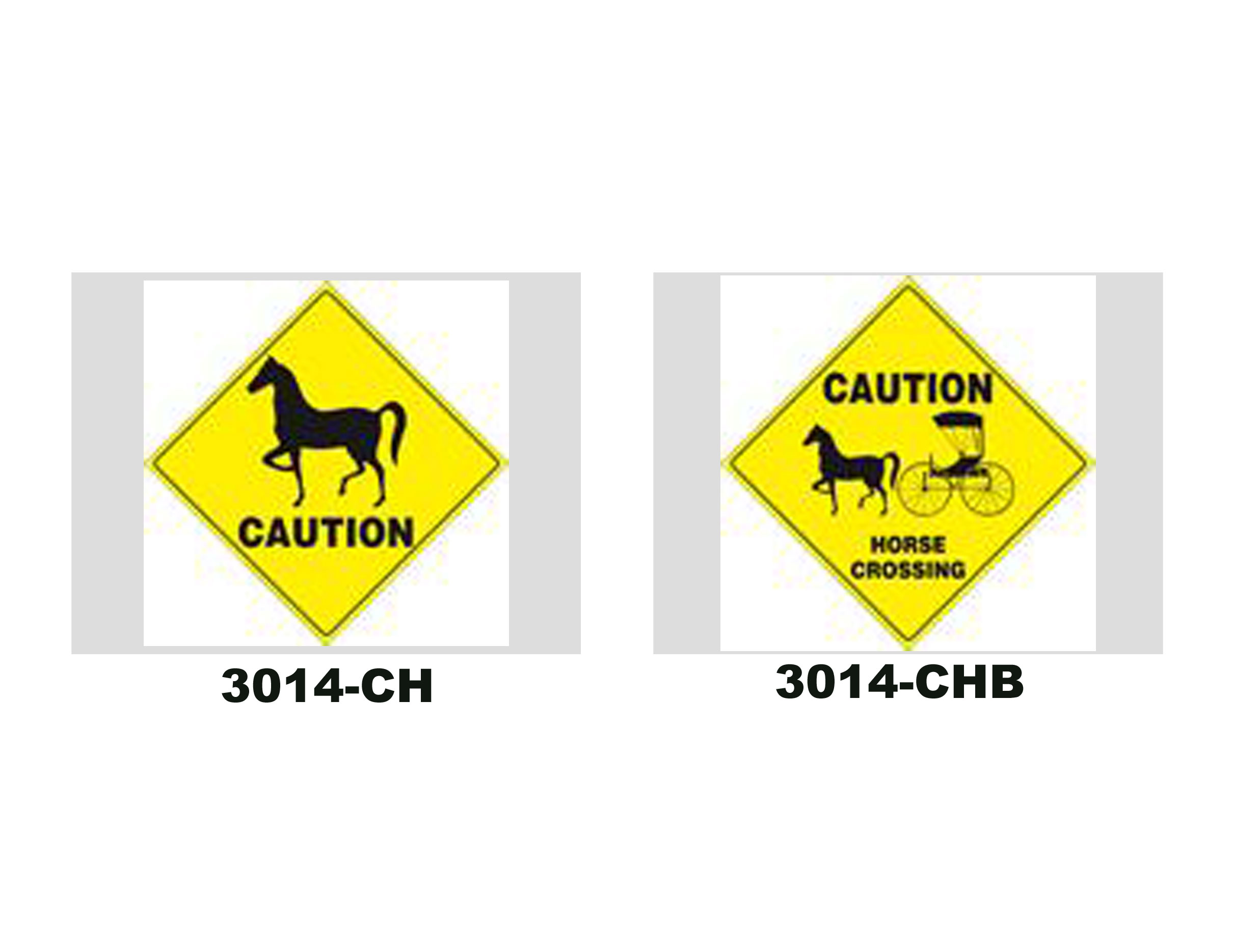 Plastic Horse Caution Signs
