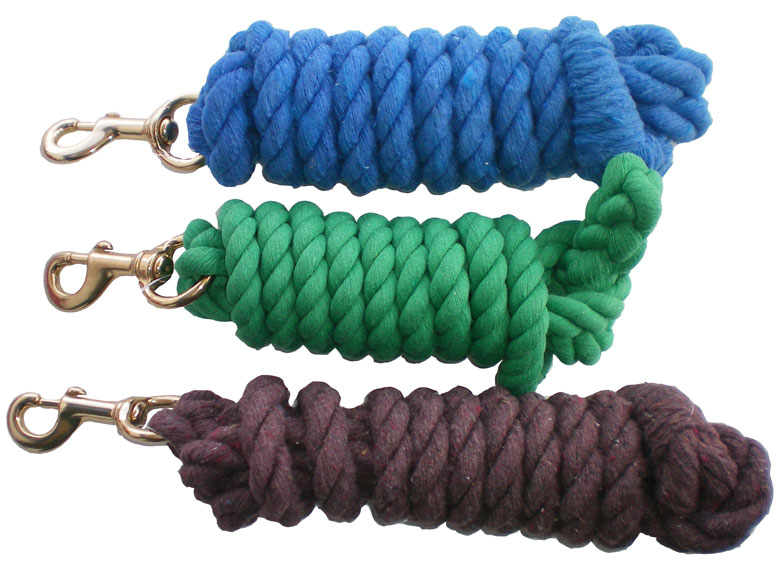 Cotton Lead Ropes/Bolt Snap